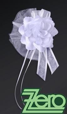 Svatební květ růže na dozdobení auta (4 ks) - bílá,
