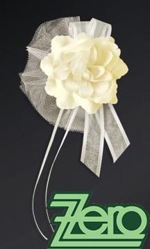 Svatební květ růže na dozdobení auta (4 ks) - krém,