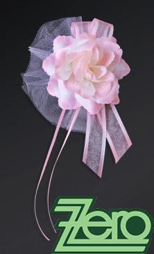 Svatební květ růže na dozdobení auta 4 ks - růžová,