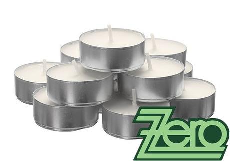 Svíčka čajová pr. 4 cm (50 ks) - bílá (8 hod.),