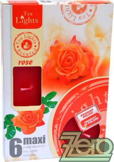 Svíčka čajová pr. 6 cm (6 ks) s vůní - různé barvy,
