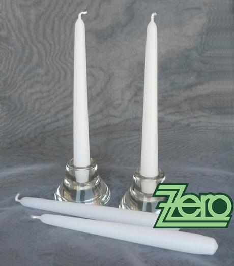 Svíčka dlouhá 21 cm - bílá (matná),