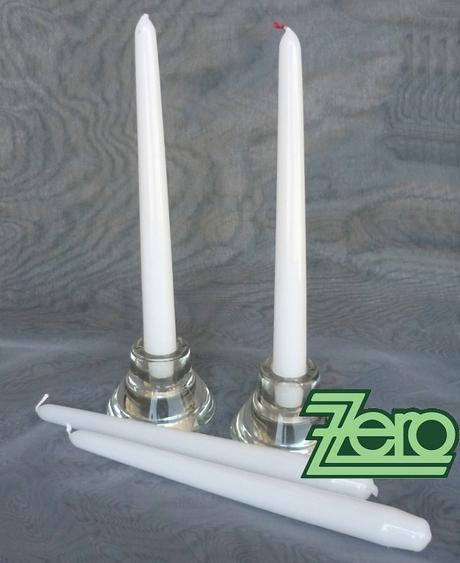 Svíčka dlouhá 24 cm - bílá (lak),