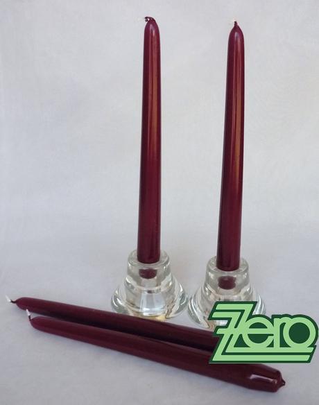 Svíčka dlouhá 24 cm - bordó (lak),