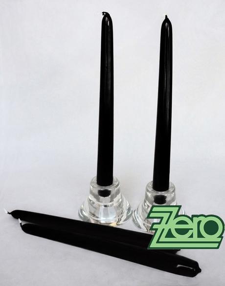 Svíčka dlouhá 24 cm - černá (lak),