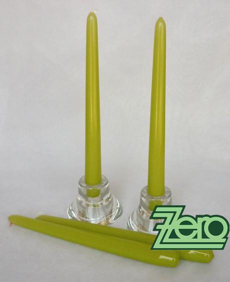 Svíčka dlouhá 24 cm - pistáciová (lak),