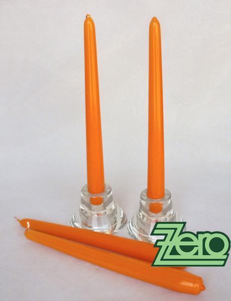 Svíčka dlouhá 24 cm - pomerančová (lak),