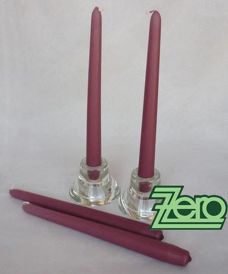Svíčka dlouhá 24 cm - starorůžová (matná),