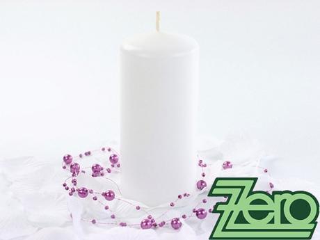 Svíčka válec pr. 5,8 cm, výška 9 cm - bílá (lak),