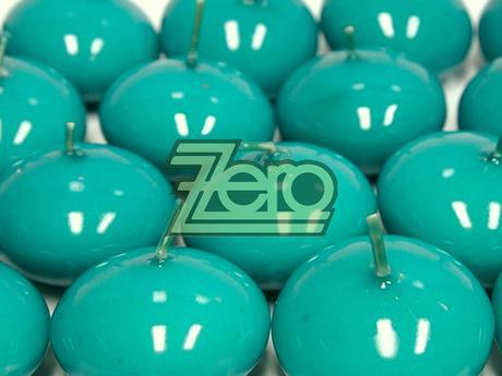 Svíčky plovoucí 10 ks, pr. 4,5 cm - mořská modrá,