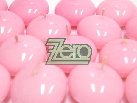 Svíčky plovoucí 10 ks, pr. 4,5 cm - světle růžové,