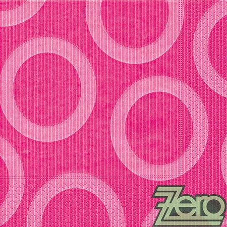 Ubrousky papírové (20 ks) kolečka - růžové,