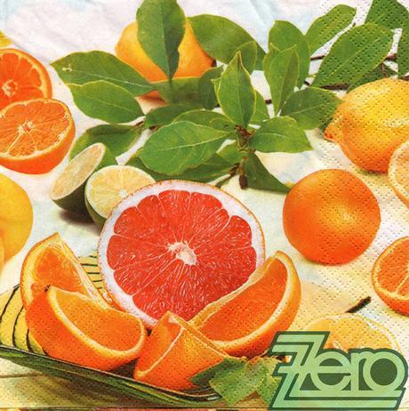 Ubrousky papírové s potiskem 20 ks - citrusy,