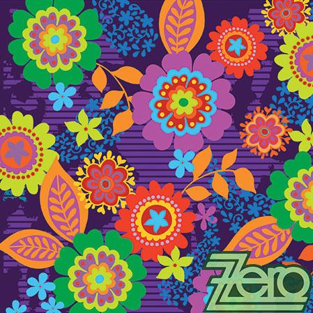 Ubrousky papírové s potiskem 20 ks - kytky hippies,