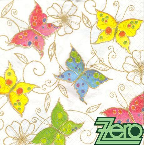 Ubrousky papírové s potiskem 20 ks - motýlci,