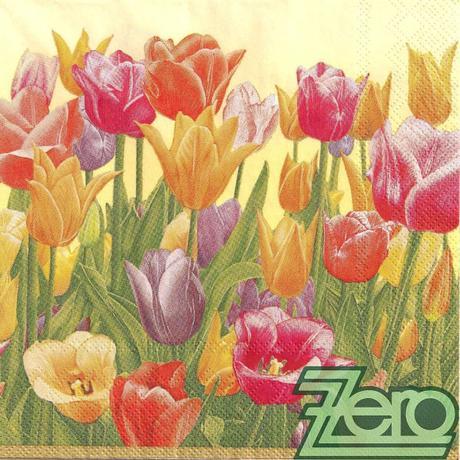 Ubrousky papírové s potiskem 20 ks - tulipány,