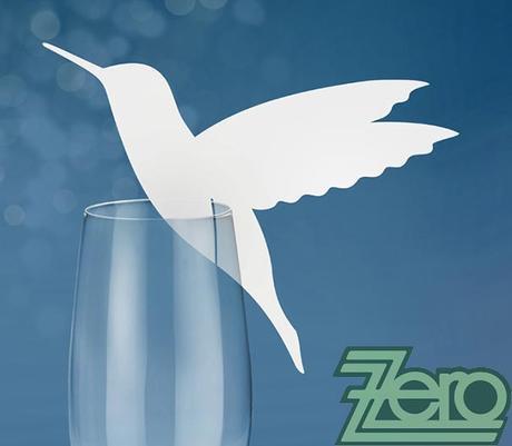 Vizitka/jmenovka na skleničku s kolibříkem (10 ks),