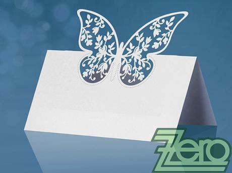Vizitka/jmenovka na stůl s motýlkem (10 ks),