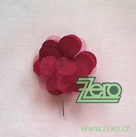 Vývazek svatební květ - bordó,