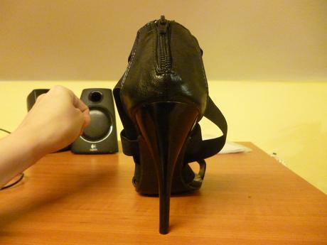 čierne sandále, 40