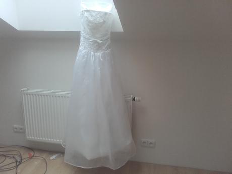 Bílé svatební šaty vel. 34-36, 36