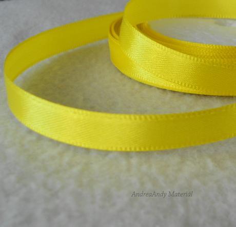 208-Saténová stuha žlutá 1cm/3m - Skladem,