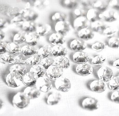 Akrylové diamanty čiré 4,5mm,