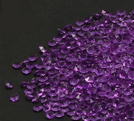 Akrylové diamanty fialové 4,5mm-Skladem,
