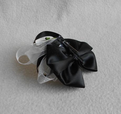 Korsáž Sweet Bride černobílá 13-SKLADEM,