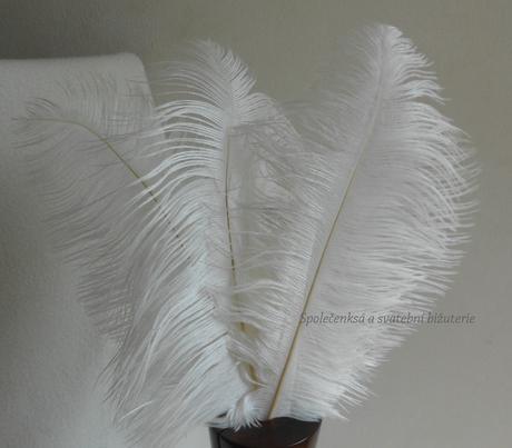 Luxusní svatební peří ivory-SKLADEM,
