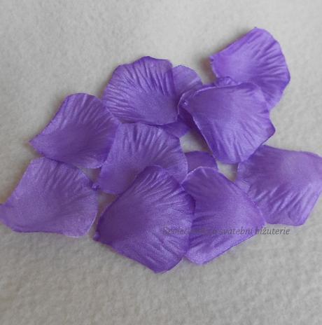 Okvětní lístky růže fialová 100ks-SKLADEM,