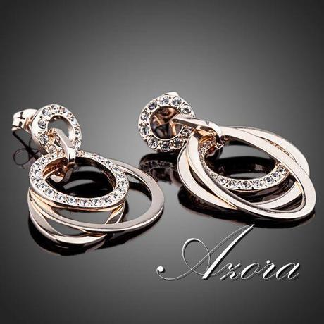 Společenské a svatební náušnice Azora 45,
