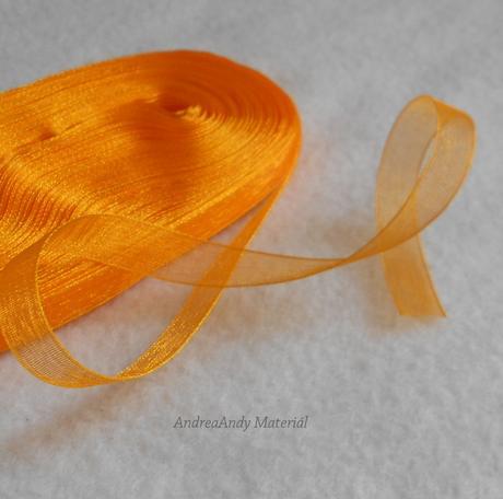 Stuha z organzy oranžová 22,8m-skladem,