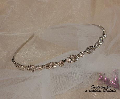 Svatební čelenka 33-SKLADEM,