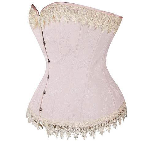 Svatební korzet růžový 03, XL