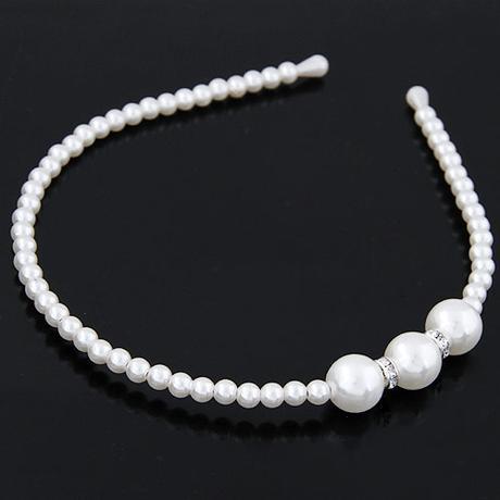 Svatební perlová čelenka 43-SKLADEM,