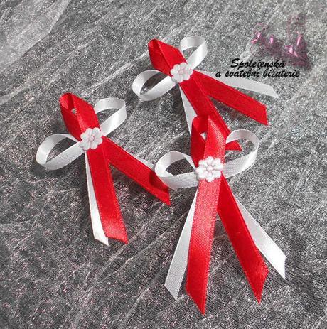 Svatební vývazky červené 07,