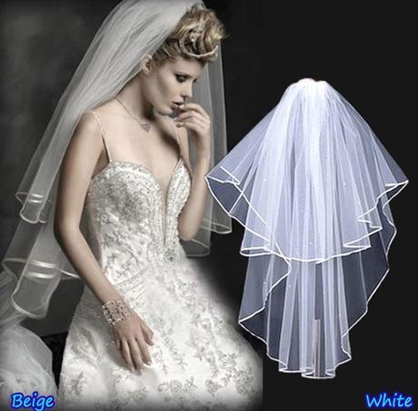 Svatební závoj bílý 08-SKLADEM,