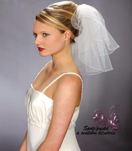 Svatební závoj bílý krátký 11-SKLADEM,