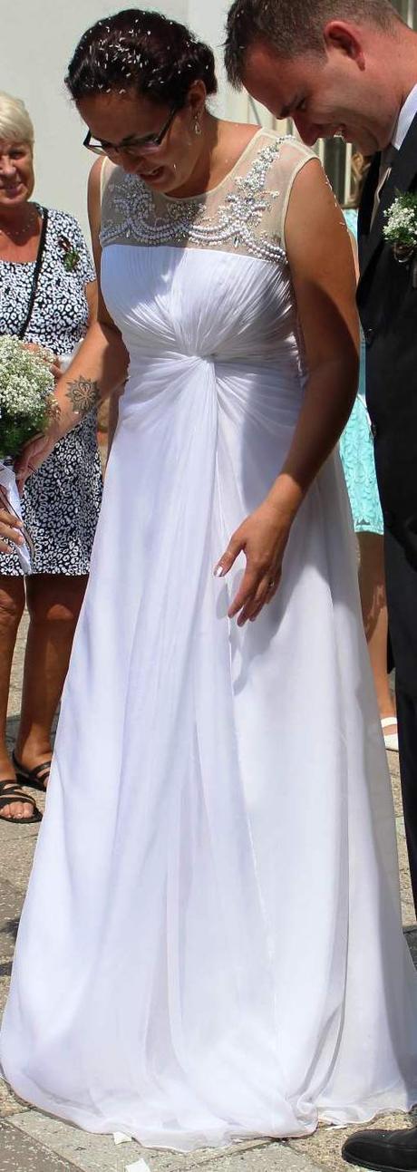 Svatební šaty-antický styl,vhodné i pro těhotné, 42