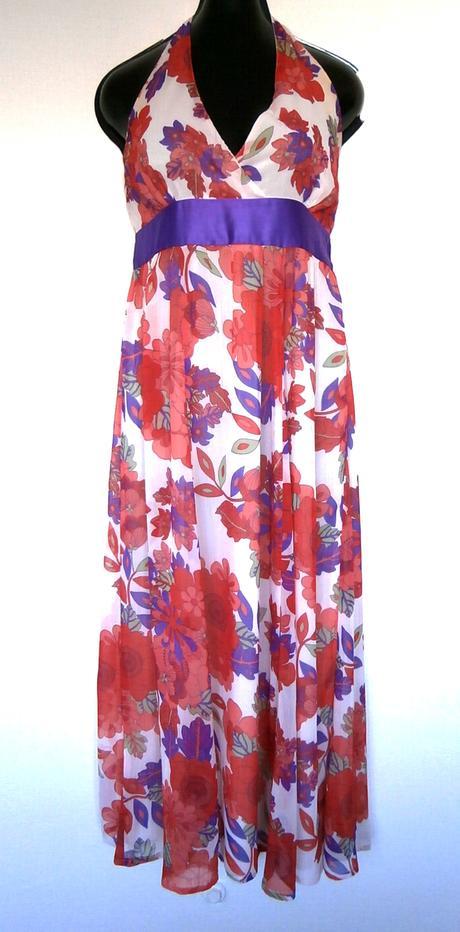 Dlouhé květované šaty, 40