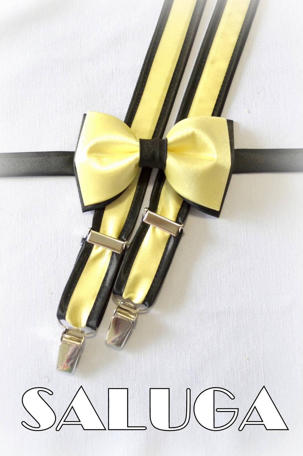 5a8c7a89e Žltý motýlik a traky s čiernym, - 21 € | Svadobné shopy | Mojasvadba.sk