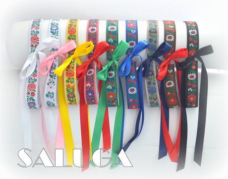 Dámsky folklórny opasok - rôzne farby,