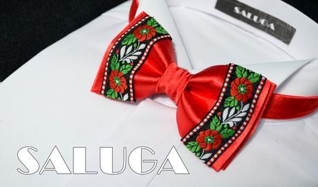 Folklórny červený motýlik - folkový - redový tanec,
