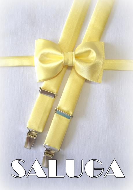 Pastelovo žltý motýlik a traky,