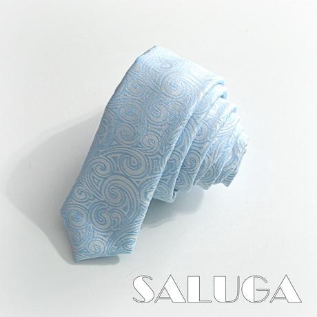 Svadobný slim kravata - vzorovaná - modrá,
