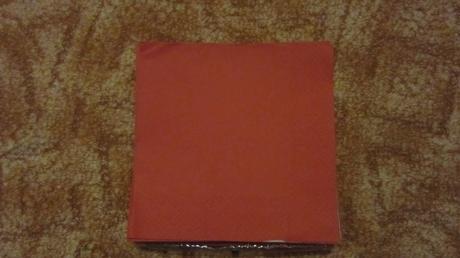 Červené ubrousky ,