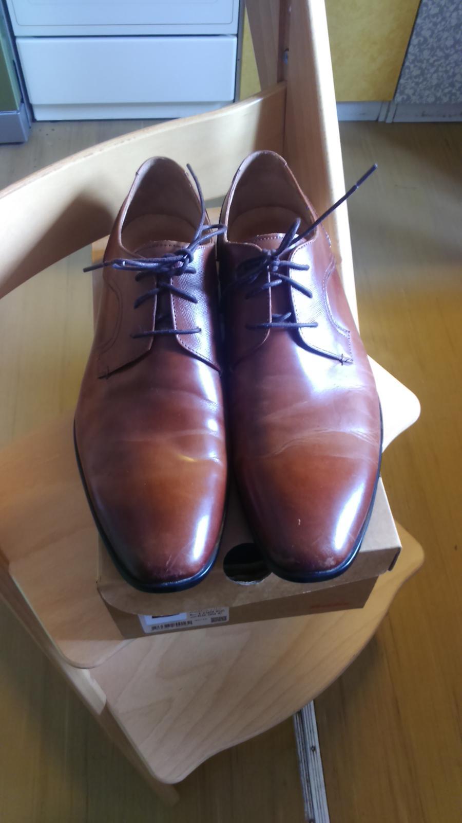 Pánské společenské kožené boty  e9f3b87545