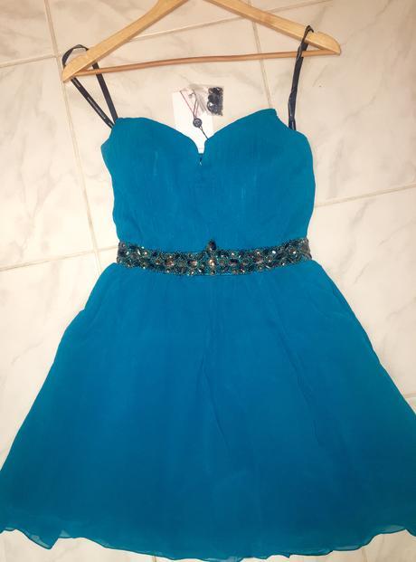 Tyrkysové šaty - XS/S, 36