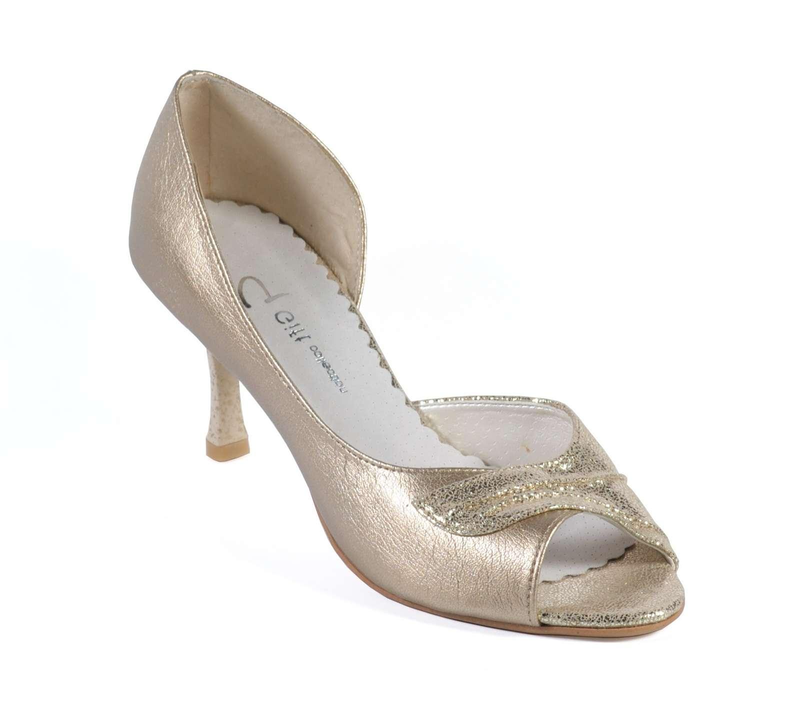 5414f4a0a7eb Topánky svadobné p-510 zlaté